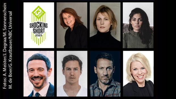 Die Jury für die 13th Street Shocking Short Awards 2020 steht: Caroline Link, Franziska Weisz, Nilam Farooq, Oliver Berben, Tim Oliver Schultz, Wotan Wilke Möhring und Karin Schrader küren die Preisträger am 3. Juli. (Fotos: A. Meister/J. Degraa/M. Sonnenschein/M. de Boer/G. Krautbauer/NBCUniversal)