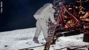 """NASA-Aufnahmen von der ersten Mondlandung sind am Sonntag in der neuen Doku """"Apollo: Missionen zum Mond"""" zu sehen, mit der National Geographic seine Sonderprogrammierung zum 50. Jubiläum des historischen Ereignisses einläutet. (Foto: NASA)"""