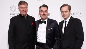 Thomas Schnitzler, Martin Ruppmann, Thomas Rieder Duftstars Deutscher Parfumpreis 2018 Foto: Markus Nass fuer Fragrance Foundation