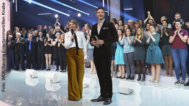 """Im WDR Fernsehen gibt's heute Abend das Finale des Wettbewerbs """"Der beste Chor im Westen"""" zu sehen und zu hören. Auch bei der Entscheidungs-Show steht wieder das bewährte Moderatoren-Duo Sabine Heinrich und Marco Schreyl auf der Bühne. (Foto: WDR/Bavaria Entertainment/Ben Knabe)"""