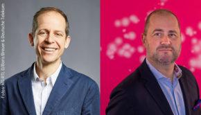 In der kommenden Woche sollen die Nominierungen zum Deutschen Fernsehpreis veröffentlich werden. Schon heute gaben der Stifterkreis-Vorsitzende Stephan Schäfer und Michael Schuld von der Telekom ihre Kooperation bekannt. (Fotos: MG RTL D/Boris Breuer & Deutsche Telekom)