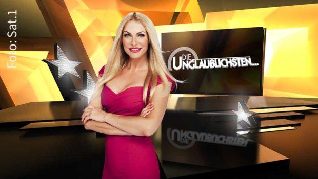 """Morgen geht Sonya Kraus' Primetime-Show """"Die Unglaublichsten…"""" bei Sat.1 in die nächste Runde. Auf dem Programm der zweiten Staffel stehen wieder jede Menge skurrile, kuriose oder einfach nur unglaubliche Rankings. (Foto: Sat.1)"""
