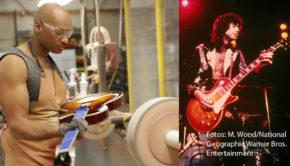 """In der zwölfteiligen Doku-Serie """"Fabriken der Superlative"""" wirft National Geographic ab heute einen Blick hinter die Kulissen großer Produktionsstätten. Dabei wird u.a. gezeigt, wie die weltberühmten Les Paul-Gitarren der Firma Gibson entstehen. (Fotos: Madeline Wood/National Geographic, Warner Bros. Entertainment)"""