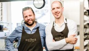 Auch die Sterneköche Jan C. Maier und Tobias Becker vom Kölner maiBeck sind bei den Fine Food Days Cologne mit von der Partie. Sie tischen in einem Schrebergarten und einer Privatwohnung auf. (Foto: Jennifer Braun/Fine Food Days Cologne)