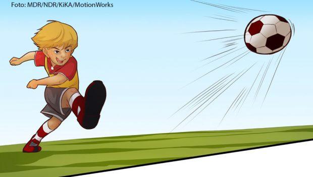 """In fußball HELDEN comic geht es um ganz persönliche Kindheitserlebnisse bekannter Fußballprofis.© MDR/NDR/KiKA/MotionWorks - Honorarfreie Verwendung gemäß AGB im redaktionellen Zusammenhang mit genannter Sendung bei Nennung """"Bild: MDR/NDR/KiKA/MotionWorks"""". Andere Verwendung nur nach Absprache. KiKA Marketing & Kommunikation - bildredaktion@kika.de Telefon: +49.361.218-1826"""