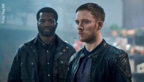 """Die britische Thriller-Serie """"Gangs of London"""" startet heute bei Sky Atlantic HD in Deutschland. In Hauptrollen sind u.a. Sope Dirisu und Joe Cole zu sehen. (Foto: Sky UK)"""