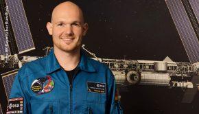 """ESA Astronaut Alexander Gerst. Weiterer Text über ots und www.presseportal.de/nr/7560 / Die Verwendung dieses Bildes ist für redaktionelle Zwecke honorarfrei. Veröffentlichung bitte unter Quellenangabe: """"obs/BR Bayerischer Rundfunk/© BR, bildmanagement@br.de"""""""