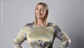 """Zum Abschluss der dreiteiligen Show-Reihe """"Guinness World Records"""" blickt Moderatorin Angelina Kirsch morgen mit prominenten Gästen auf 33 besonders spektakuläre Höchstleistungen. Los geht's um 20:15 Uhr in Sat.1. (Foto: Sat.1/Willi Weber)"""
