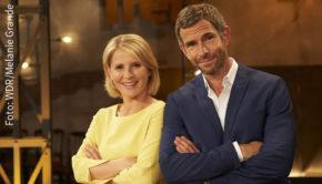 """Eine neue Ausgabe des """"Kölner Treff"""" steht heute Abend im WDR Fernsehen auf dem Programm. Die Moderatoren Susan Link und Micky Beisenherz begrüßen u.a. Matze Knop, Gil Ofarim und Katrin Müller-Hohenstein. (Foto: WDR/Melanie Grande)"""