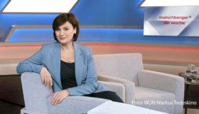 """Eine neue Ausgabe der Talkshow """"Maischberger. Die Woche"""" steht am heutigen 30. September im Ersten auf dem Programm. Themen sind u.a. das TV-Duell Trump gegen Biden und die neuen Corona-Maßnahmen von Bund und Ländern. (Foto: WDR/Markus Tedeskino)"""