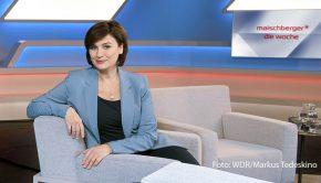 Anlässlich der Präsidentenwahl in den USA moderiert Sandra Maischberger heute ab 21:00 Uhr eine Sonderausgabe ihrer Talkshow im Ersten. Ob bis dahin der Wahlsieger definitiv feststeht, ist derzeit noch offen. (Foto: WDR/Markus Tedeskino)