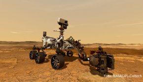 """Zur für heute geplanten Landung des Mars-Rovers """"Perseverance"""" zeigt der Sender National Geographic am Samstag """"Mission Mars 2020"""". Die Filmemacher haben die Vorbereitungen der Mission begleitet und dokumentieren, wie der Rover und viele andere technischen Gerätschaften der Expedition entstanden sind. (Foto: NASA/JPL-Caltech)"""