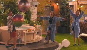 """Am Ende der gestrigen Ausgabe von """"Promi Big Brother"""" durften die vier Finalisten schon mal eine Party feiern. Heute Abend wird auf Sat.1 der Sieger oder die Siegerin der siebten Staffel gekürt. (Foto: Sat.1)"""