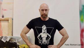 """Künstler Roman Lipski entwickelt seine aktuellen Werke im Zusammenspiel mit Künstlicher Intelligenz. Einige davon sind ab dem morgigen Samstag in der Gruppenausstellung """"H20"""" in Berlin zu sehen. (Foto: Roman Lipski)"""