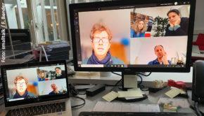 PR in den Zeiten von Corona: Die Kölner Agentur Position setzt auf Homeoffice und Videokonferenzen. (Foto: smalltalk/F. Bender)