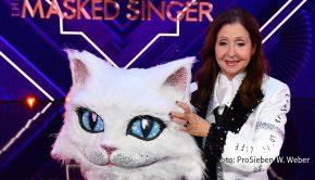 """Die fünf Finalisten der ProSieben-Show """"The Masked Singer"""" stehen fest. Nicht mehr dabei ist Schlager-Ikone Vicky Leandros, die gestern Abend als """"Katze"""" enttarnt wurde. (Foto: ProSieben/Willi Weber)"""