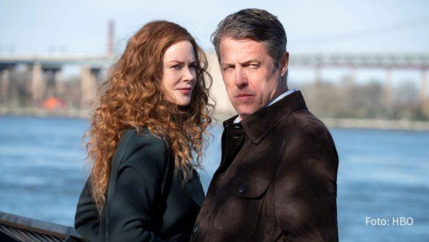 """Ab dem heutigen 30. November zeigt Sky die starbesetzte Miniserie """"The Undoing"""": Nicole Kidman spielt darin eine erfolgreiche Therapeutin, deren vermeintlich glückliches Eheleben mit dem Chirurgen Jonathan (Hugh Grant) nach einem mysteriösen Mordfall komplett aus den Fugen gerät. (Foto: HBO)"""