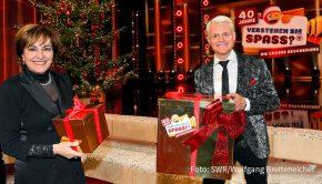 """Am Vorabend des vierten Advents läuft um 20:15 Uhr im Ersten und im ORF """"40 Jahre Verstehen Sie Spaß? – Die große Bescherung"""". (Foto: SWR/Wolfgang Breiteneicher)"""