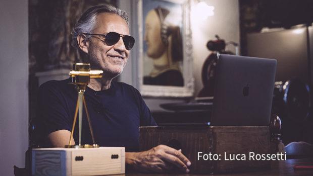 Zum dritten Mal wird am morgigen 8. September der Youtube Goldene Kamera Digital Award vergeben. Preisträger ist in diesem Jahr u.a. der italienische Tenor Andrea Bocelli. (Foto: Luca Rossetti)
