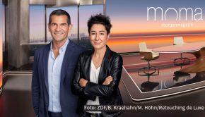 """Eines der Moderatoren-Duos aus dem ZDF-""""Morgenmagazin"""", Dunja Hayali und Mitri Sirin, ist heute Abend auf fremdem Terrain unterwegs: Neben Tennis-Star Michael Stich, Spitzenkoch Nelson Müller u.a. gehören die beiden Journalisten zu den Gästen in der Radio Bremen-Talkshow """"3nach9"""". (Foto: ZDF/Benno Kraehahn/Marcus Höhn/Retouching de Luxe)"""