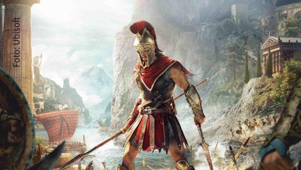 """Antiker Verkaufserfolg: """"Assassin's Creed Odyssey"""" ist mittlerweile mehr als 500.000 Mal in Deutschland verkauft worden. Dafür gab's jetzt eine Sonderauszeichnung des Verbands game. Foto: Ubisoft"""
