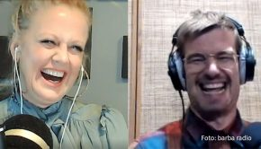 """Am morgigen Samstag gibt's auf barba radio eine neue Folge von Barbara Schönebergers """"Mit den Waffeln einer Frau"""". Im Talk macht Joko Winterscheidt seiner Gastgeberin klar: """"Wenn ich so alt bin wie du, möchte ich nicht mehr arbeiten."""" (Foto: barba radio)"""