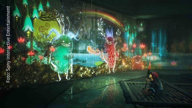 """Im Action-Adventure """"Concrete Genie"""" werden Zeichnungen zum Leben erweckten. Gleich in vier Kategorien ist das Playstation-Spiel für den gamescom award nominiert worden. (Foto: Sony Interactive Entertainment)"""