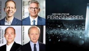 Die Stifter Stephan Schäfer (RTL), Thomas Bellut (ZDF), Tom Buhrow (WDR/ARD) und Kaspar Pflüger (Sat.1) haben heute die Absage der für den 6. Juni geplanten TV-Gala zum Deutschen Fernsehpreis verkündet. Nominierte und Preisträger sollen dennoch benannt werden. (Fotos: RTL/Boris Breuer/ZDF/ Markus Hintzen/ProSiebenSat.1/ Martin Saumweber/WDR/ Herby Sachs)