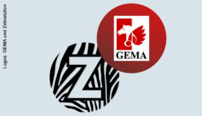 Logos: GEMA und Zebralution