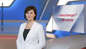 """Nach der Premiere des neuen Formats """"Maischberger. Vor Ort"""" in der vergangenen Woche steht am heutigen Mittwoch wieder """"Maischberger. Die Woche"""" im Ersten auf dem Programm. Thema sind die aktuellen Entwicklungen in der Corona-Krise. (Foto: WDR/Markus Tedeskino)"""